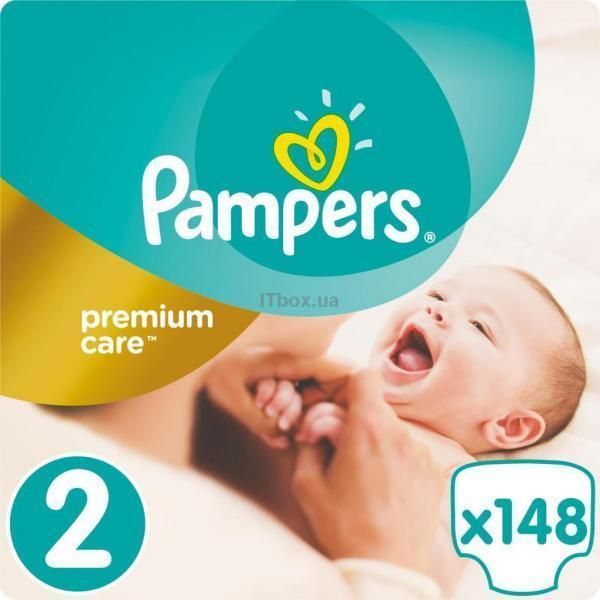 Pampers Premium Care Mini Размер 2 (3-6 кг), 148 шт. (4015400770275).jpg