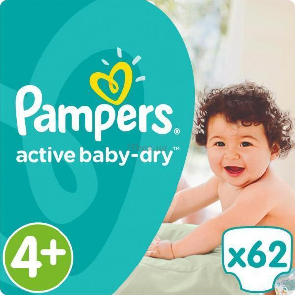 Pampers Active Baby-Dry Maxi+ Размер 4+ (9-16 кг), 62 шт (4015400264774).jpg
