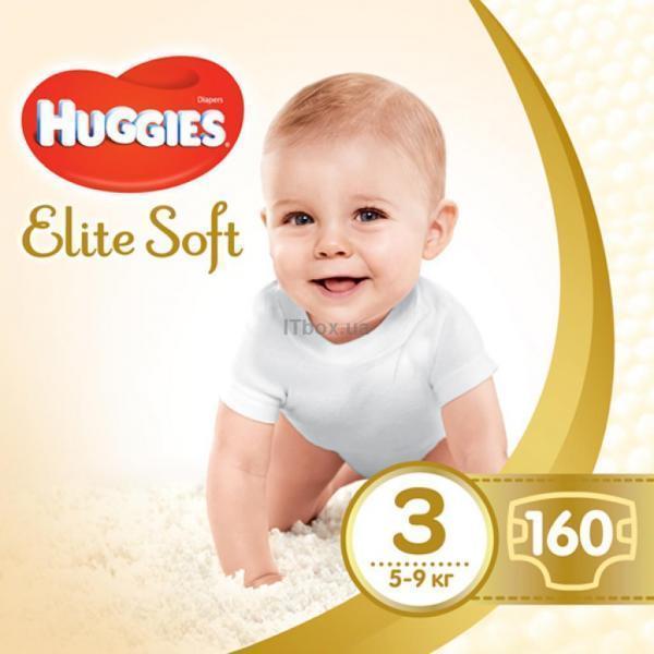 Huggies Elite Soft 3 (5-9 кг) 160 шт (5029054566213)
