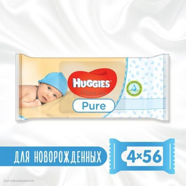Huggies Pure 56 х 4 шт (5029053550121)