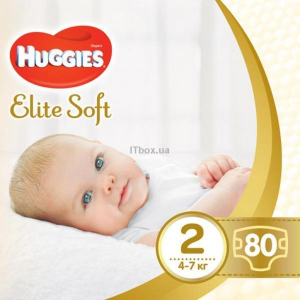 Huggies Elite Soft 2 Mega (4-7 кг) 80 шт (5029053564920)