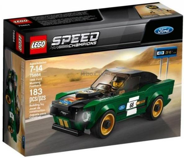 LEGO Speed Champions 1968 Ford Mustang Fastback 183 деталі (75884)