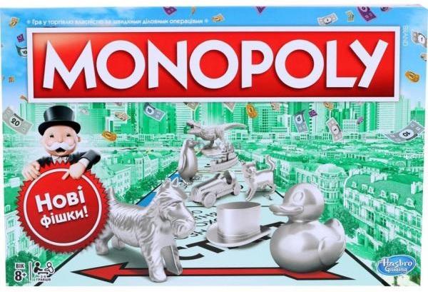 Hasbro Класична Монополія оновлена (українська) (C1009_657)
