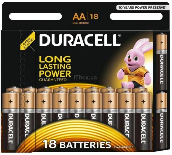 Duracell AA MN1500 LR06  18 (5000394107519 - 81545414)